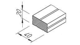 vinyTec PVC-Distanzprofil 20/40