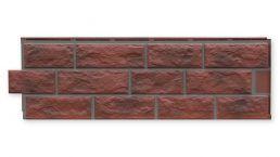Zierer Fassadenbekleidungen in Bruchsteinoptik (GFK) rot-geflammt