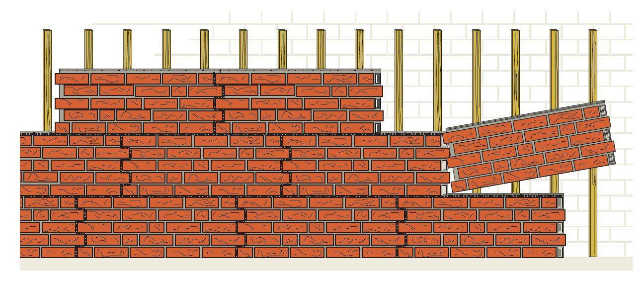 Fassadenplatten im Versatz montiert