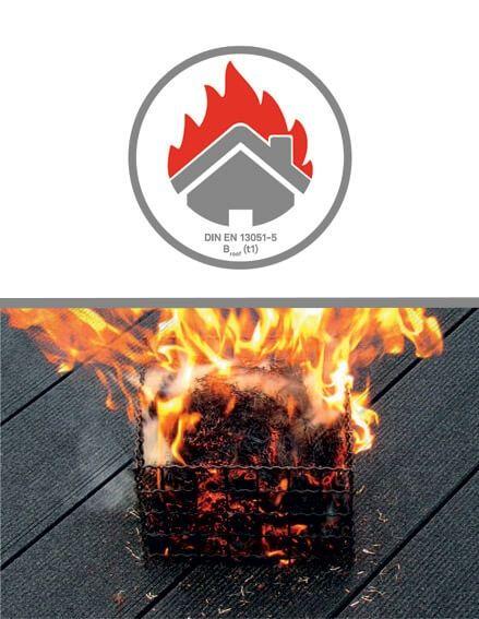 Feuerprobe WPC Flachdach