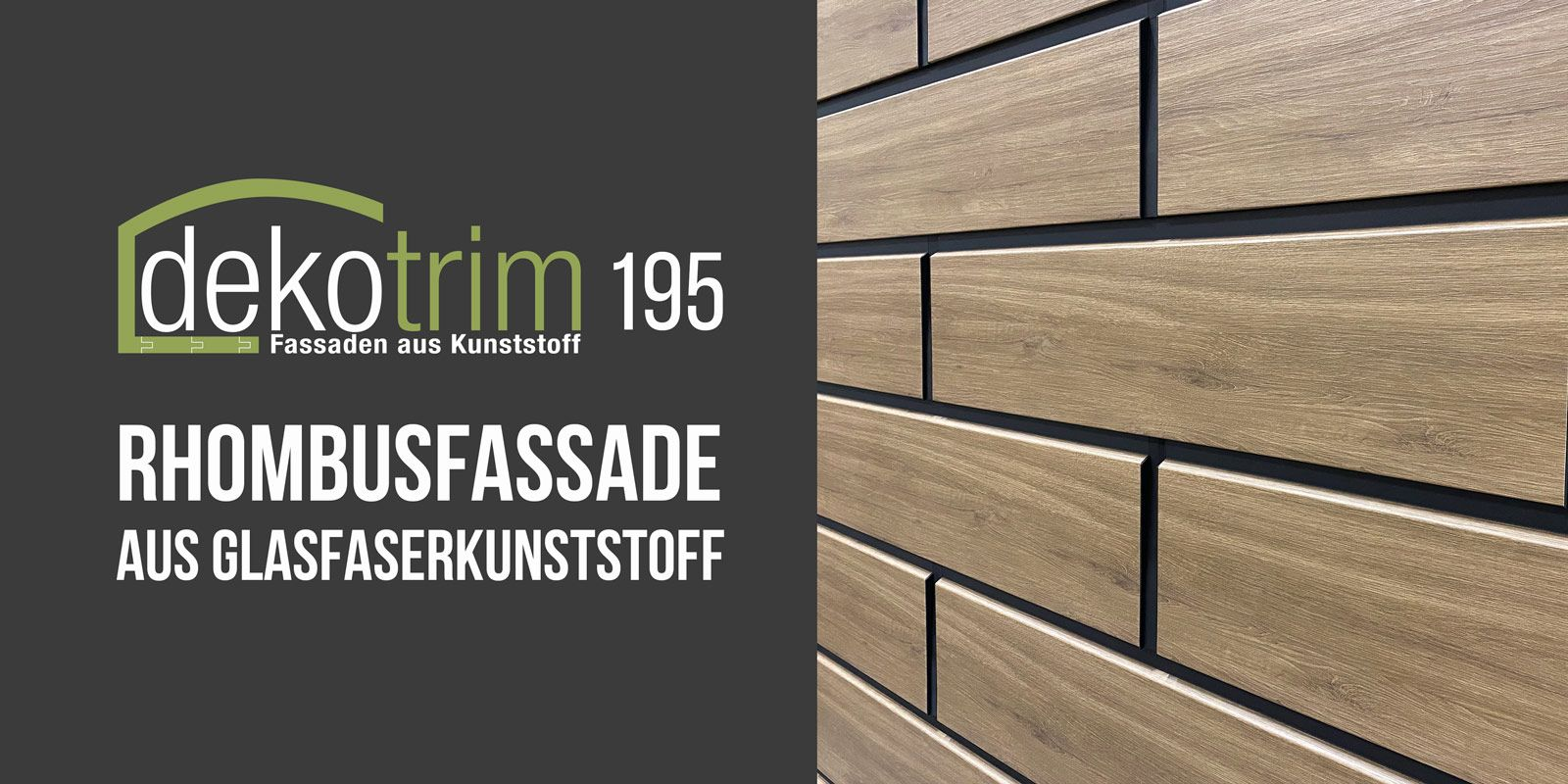 perfektes Holzimitat Kunststofffassade