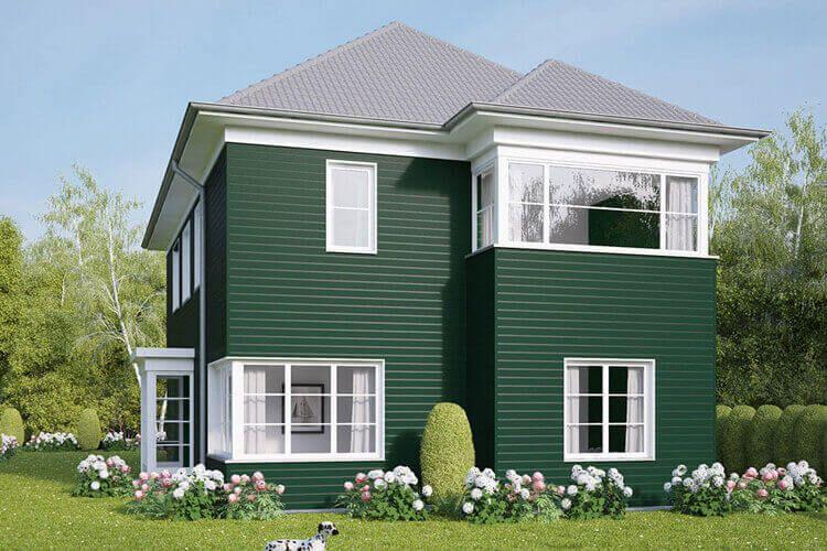 Fassadenverkleidungen in grün