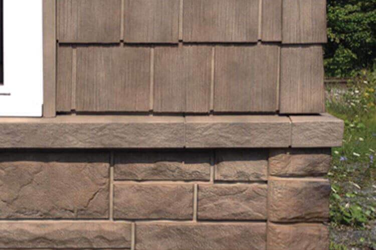 rustikale Fassadenverkleidung