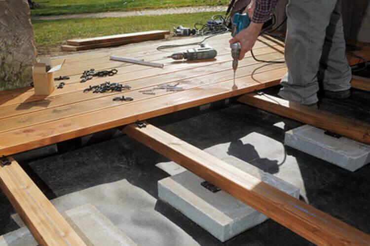 Unterkonstruktion WPC Terrassen