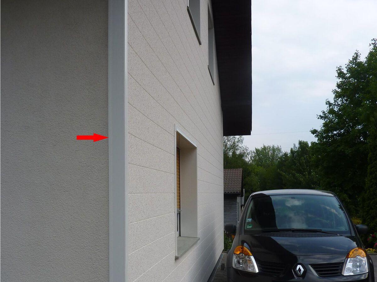 seitlicher Fassadenabschluss mit VinyCom