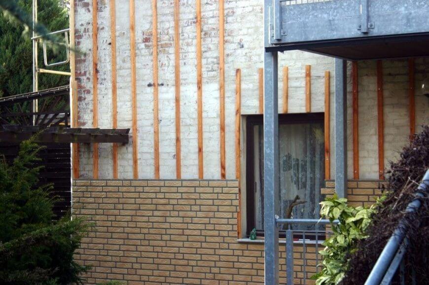 Hausfassade - Anschlus Fenster