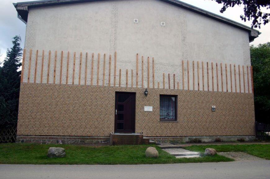 Hausfassade - Giebelseite