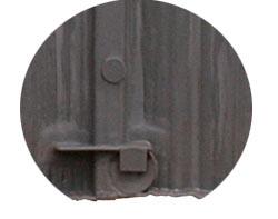 Verschlusssystem Fassadenelement in Holzschindeloptik