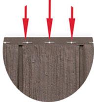 Schraubleiste Holzschindelfassade