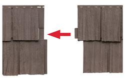 seitliches Verschlussystem der Fassadenelemente