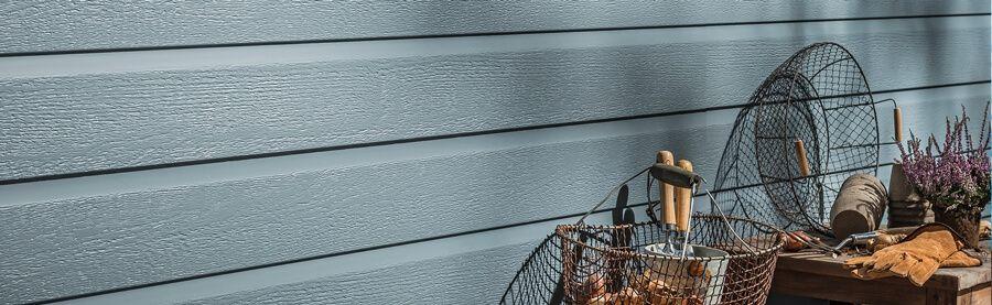 Kerrafront Fassadenpaneel Kunststoff blau