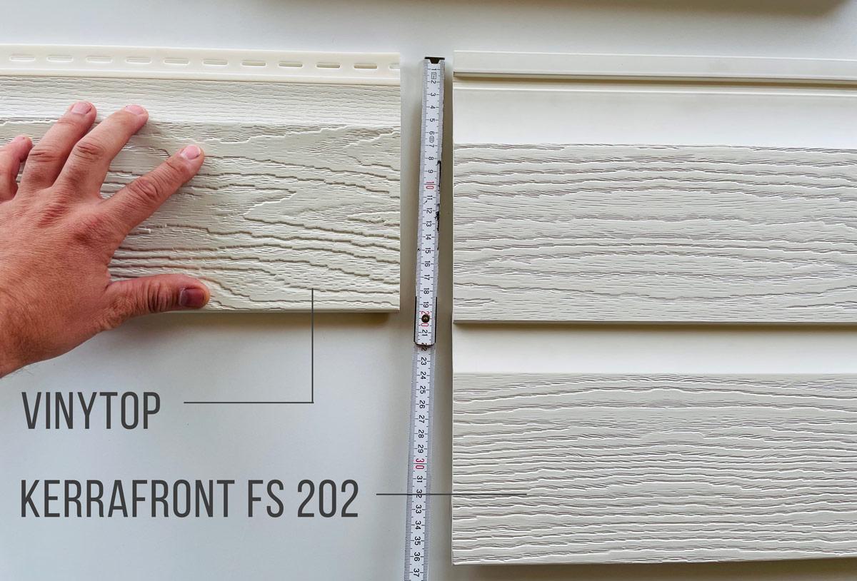 Unterschiede VinyTop Fassadenpaneele zu Kerrafront FS 201