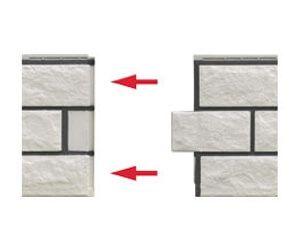 Klicksystem Bruchsteinfassade