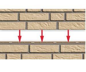Nut- und Feder der Fassadenverkleidung in Klinkeroptik