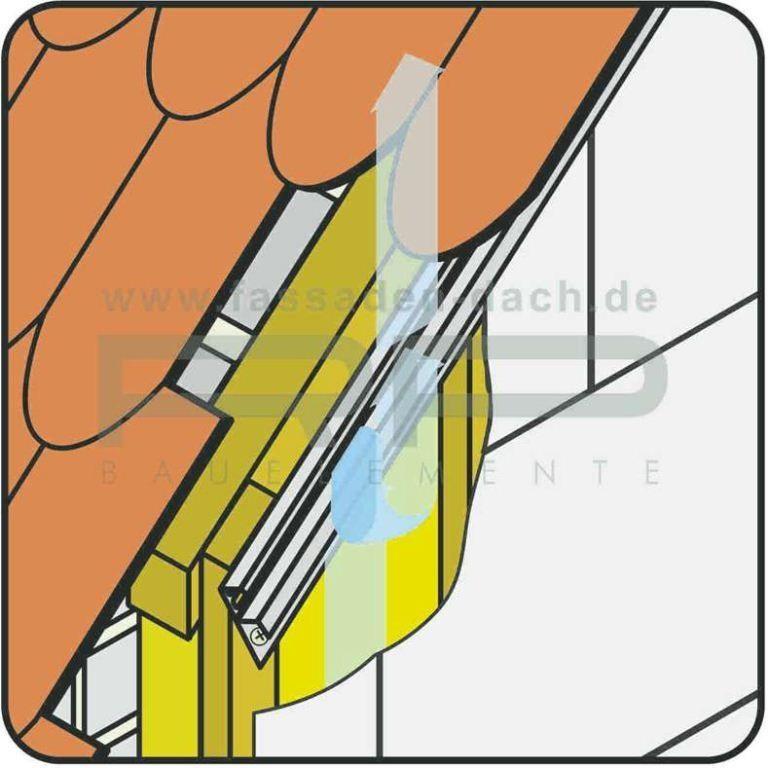 oberer Fassadenabschluss der Zierer Putzplatten