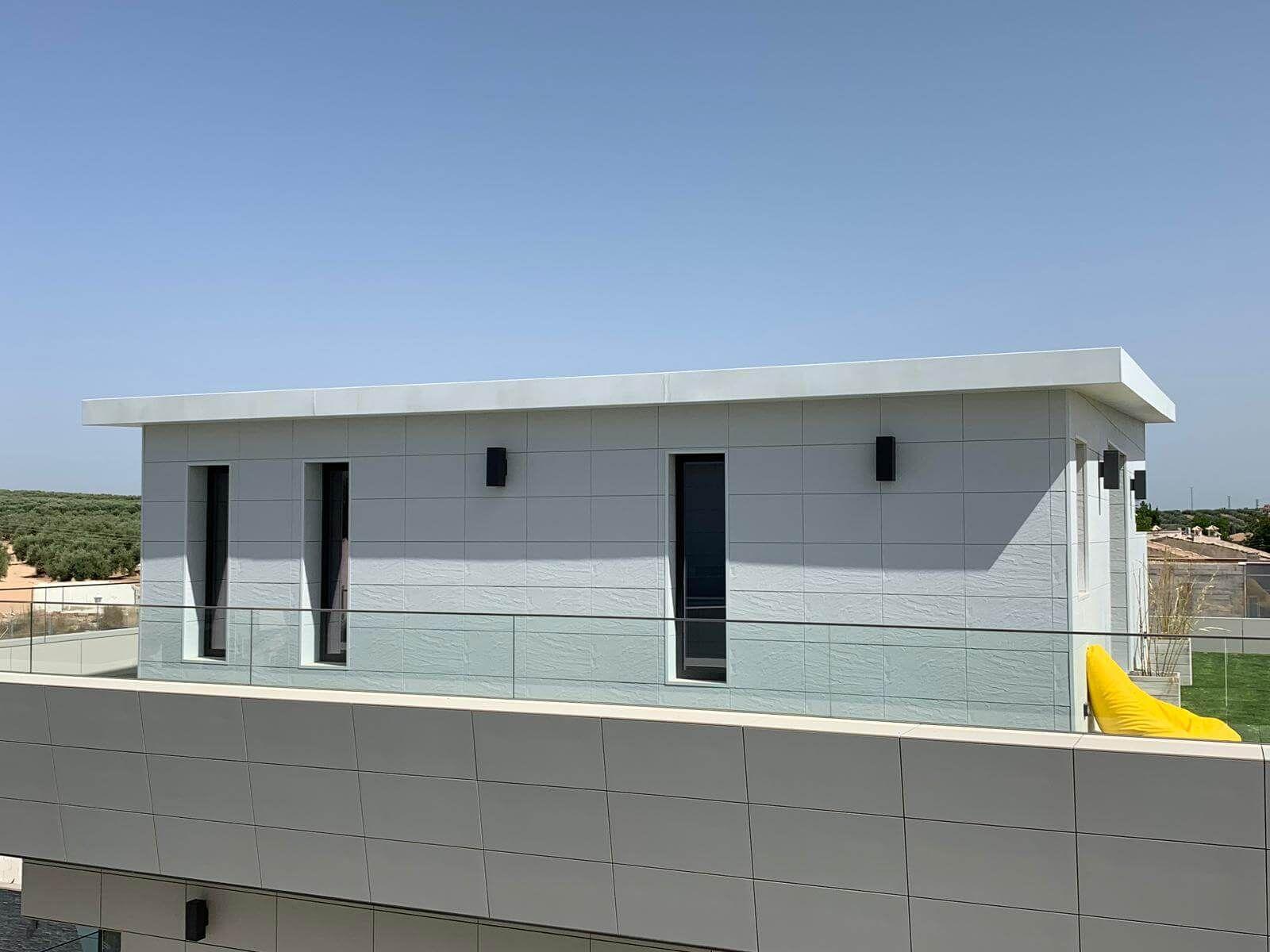 Rooftop mit Zierer Fassadenplatten in Schieferoptik