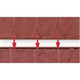 Nut- und Feder der Fassadenverkleidung in Schieferoptik