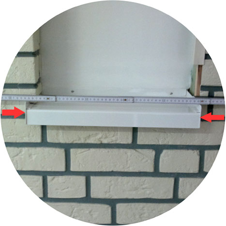 Länge der Fensterlaibung messen