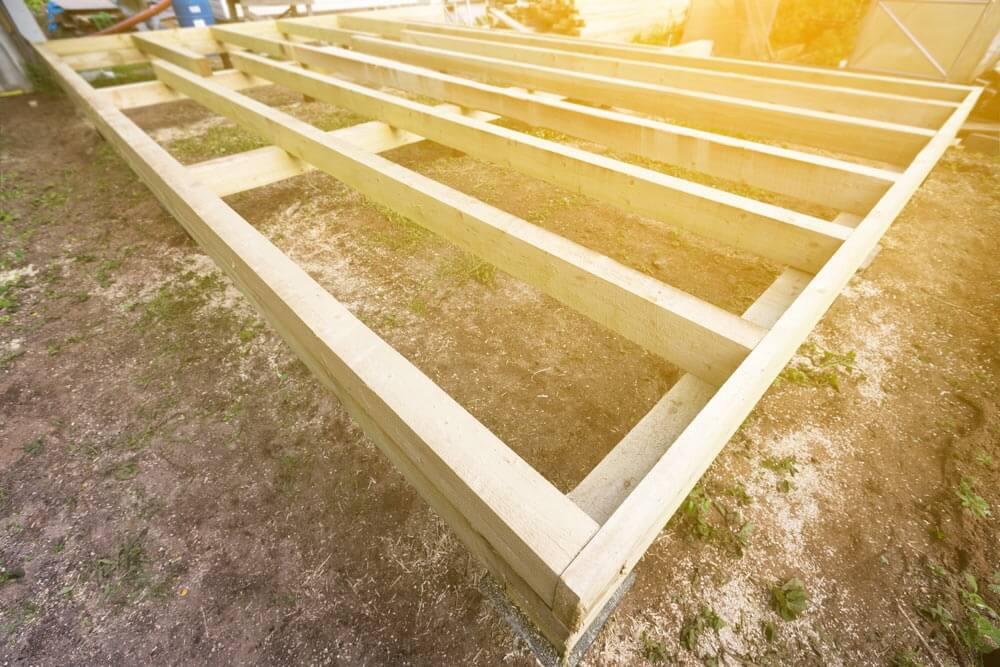 Unterkonstruktion Terrasse aus Holz