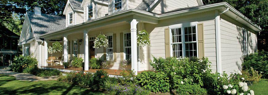 Fassade im Stil eines Amerikanischen Hauses