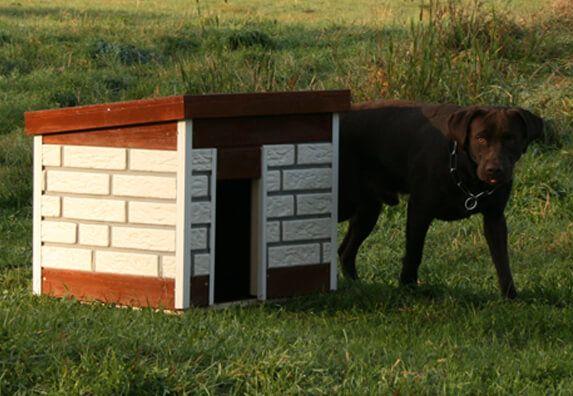 Hundehütte mit der Zierer Klinkerfassade